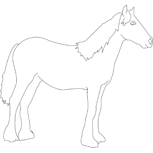 Horse Standing coloring page