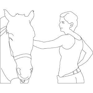 Horse and Friend coloring page