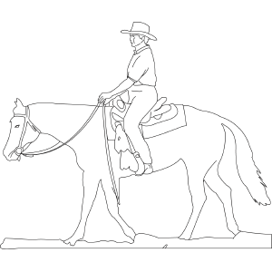Horse with Rider coloring page