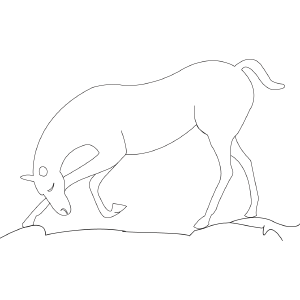 Horse 4 coloring page