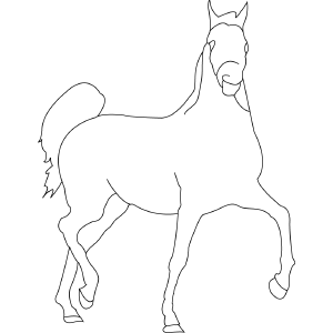Horse 6 coloring page